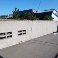 ブロック塀リフォーム工事【ビフォー】